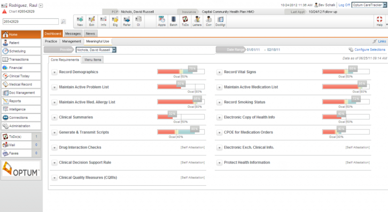 Optum Physician EMR Suite EHR and Practice Management Software