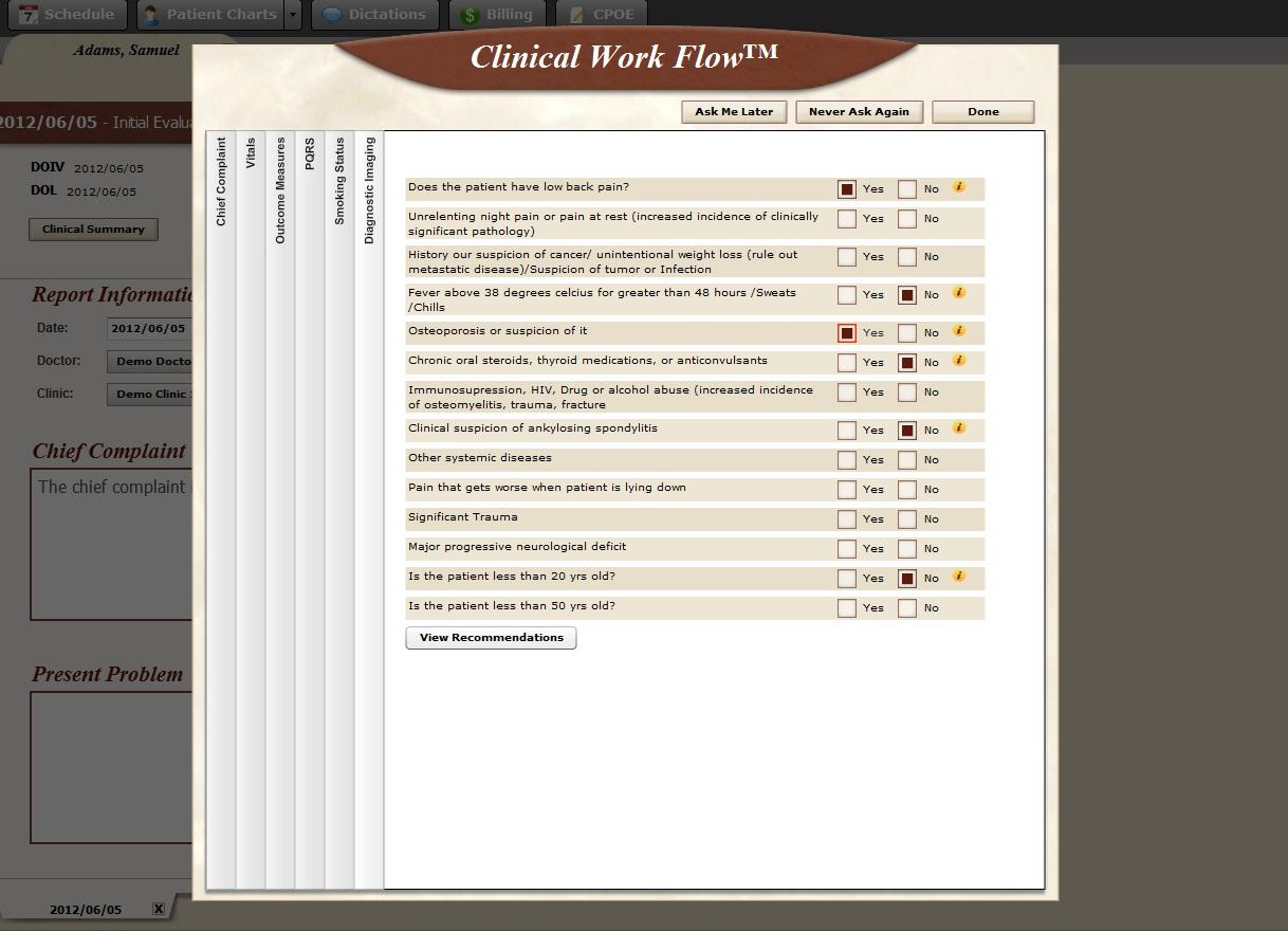 BackChart EHR Software EHR and Practice Management Software