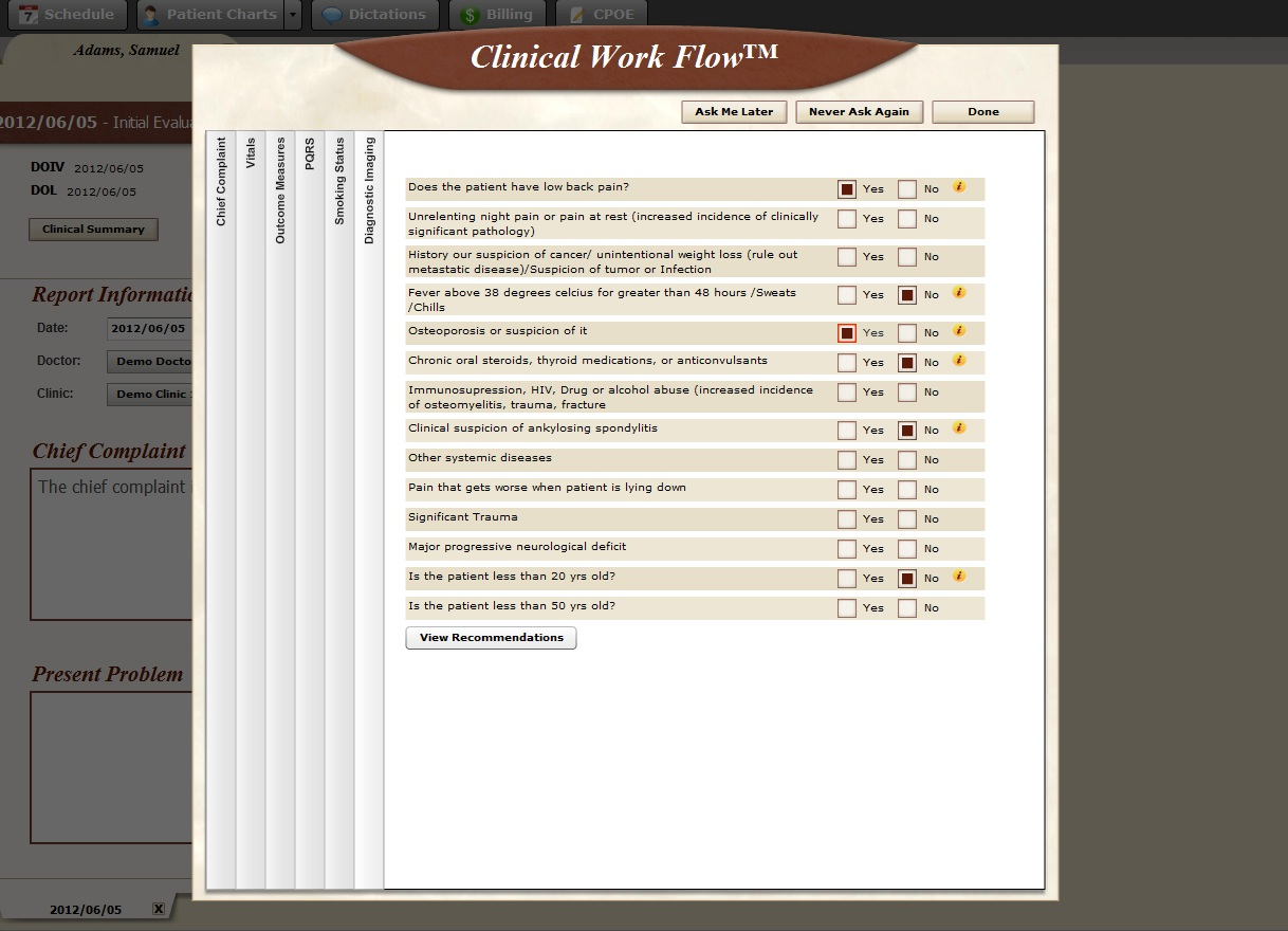 BackChart EHR Software EHR and Practice Management Software