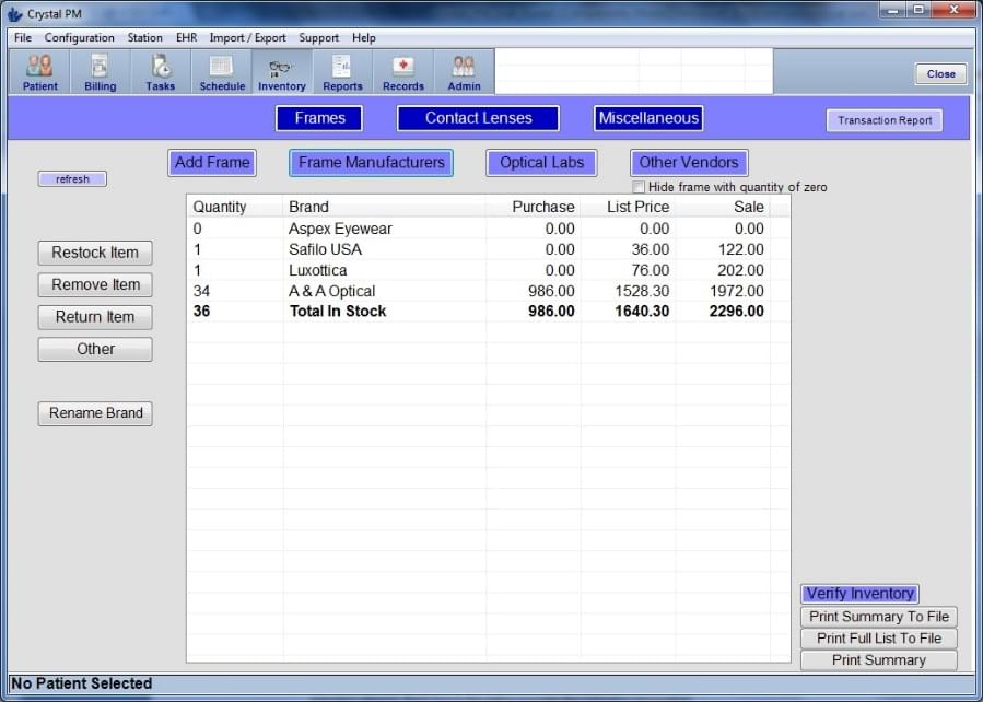 Crystal Practice Management Software EHR and Practice Management Software