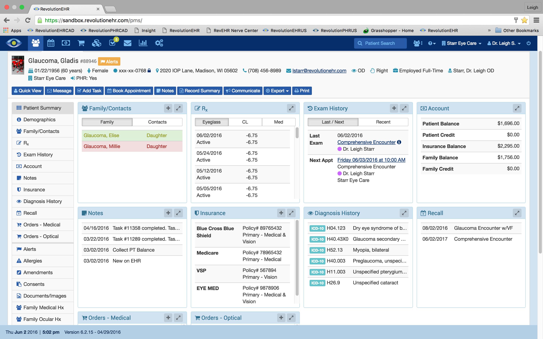 Revolution EHR Software EHR and Practice Management Software