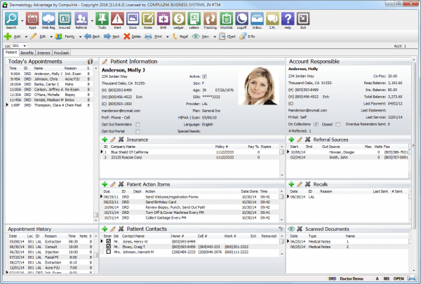 Compulink Dermatology Advantage EMR Software EHR and Practice Management Software