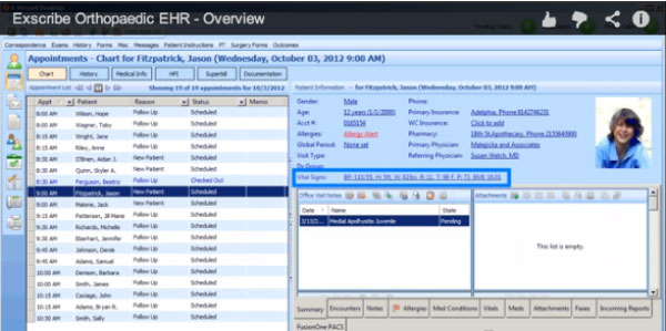 Exscribe EHR and practice management software