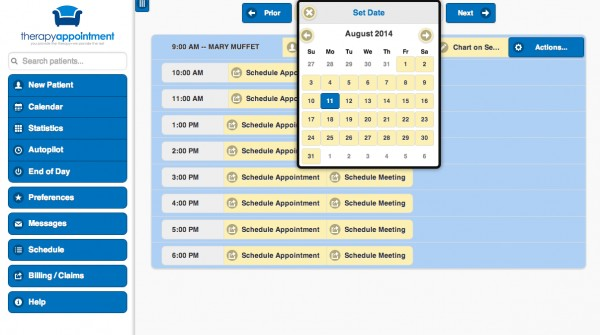 Therapy Appointment EMR and practice management Software
