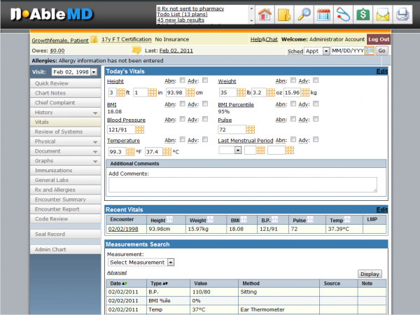 nAbleMD EMR and practice managemenet Software