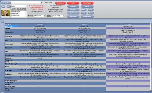 Chiro QuickCharts EHR and practice management Software