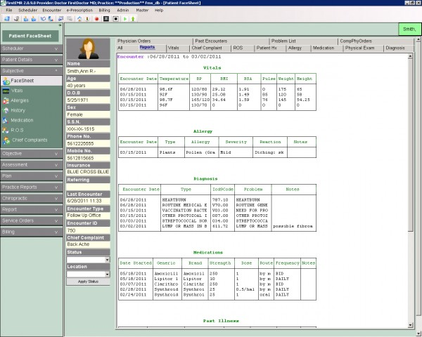 FirstEMR Software EHR and Practice Management Software