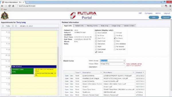 Futura Practice Management Software and patient portal