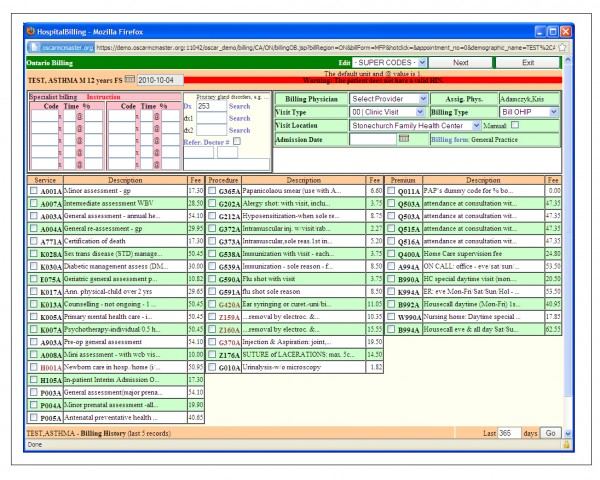OSCAR EMR Software EHR and Practice Management Software