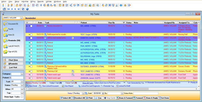 1st Providers Choice EMR Software patient scheduling reminder