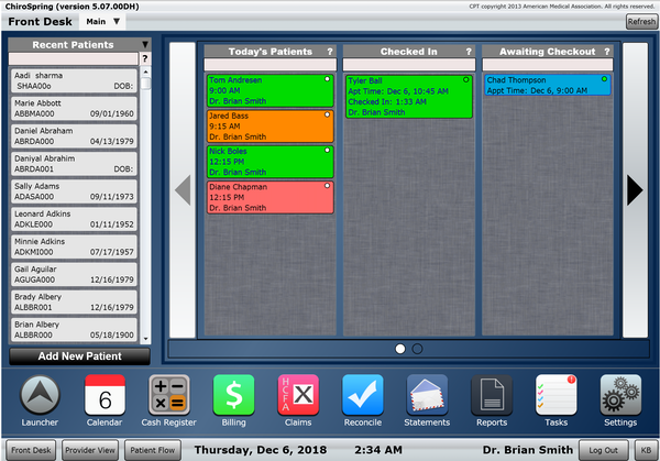 ChiroSpring PM Software EHR and Practice Management Software