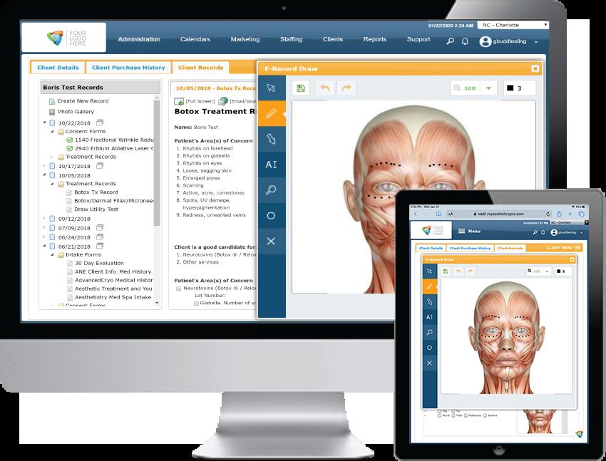 AestheticsPro Online EMR Software EHR and Practice Management Software