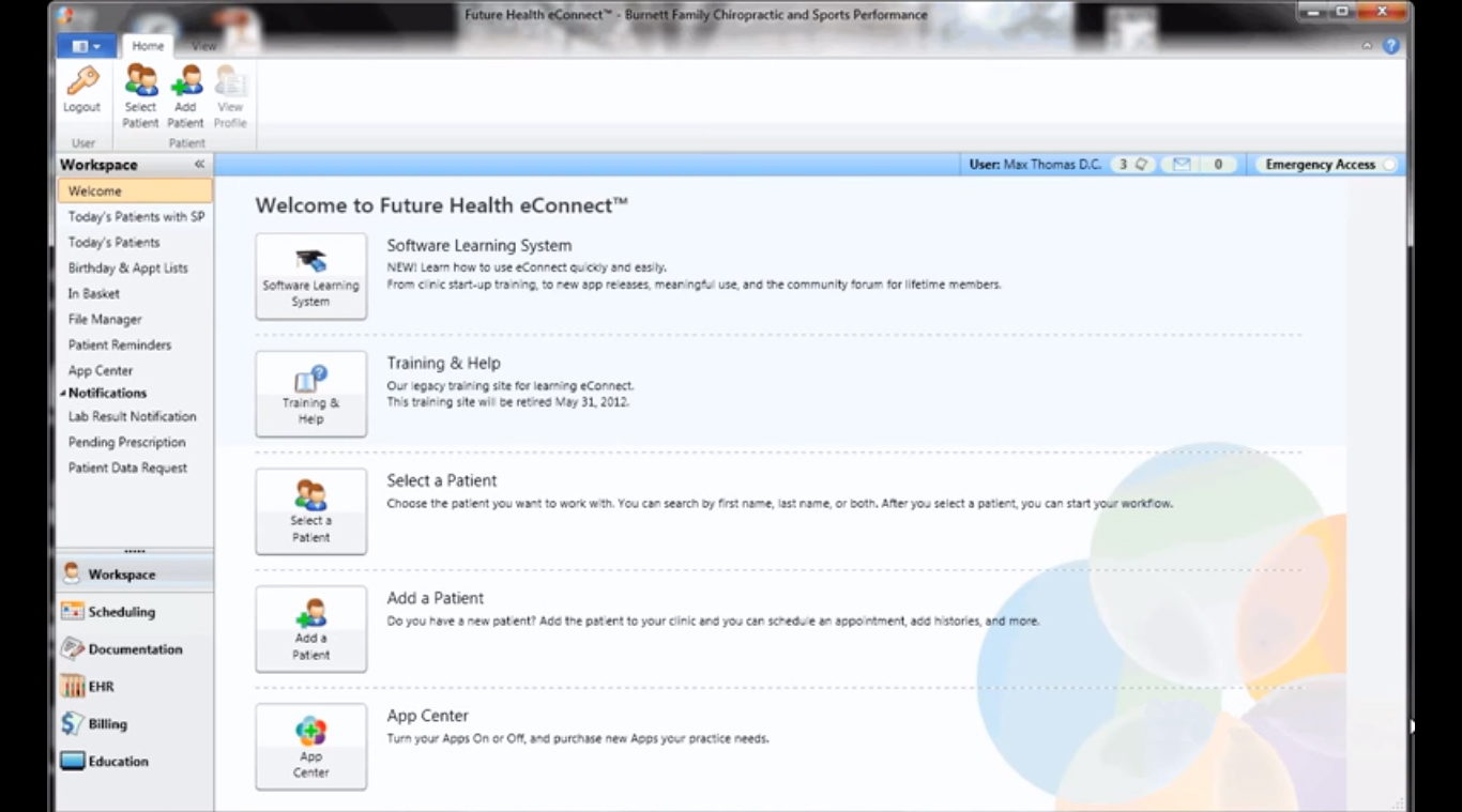 Future Health SmartCloud EMR Software EHR and Practice Management Software